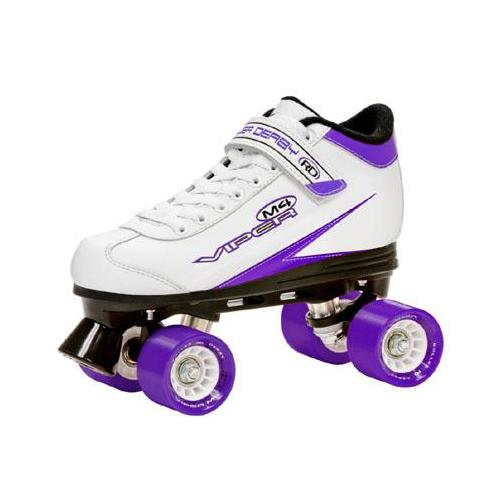 Roller Derby Viper M4 Women's Speed Quad Skates - U724W (White/Purple/Black - 10)