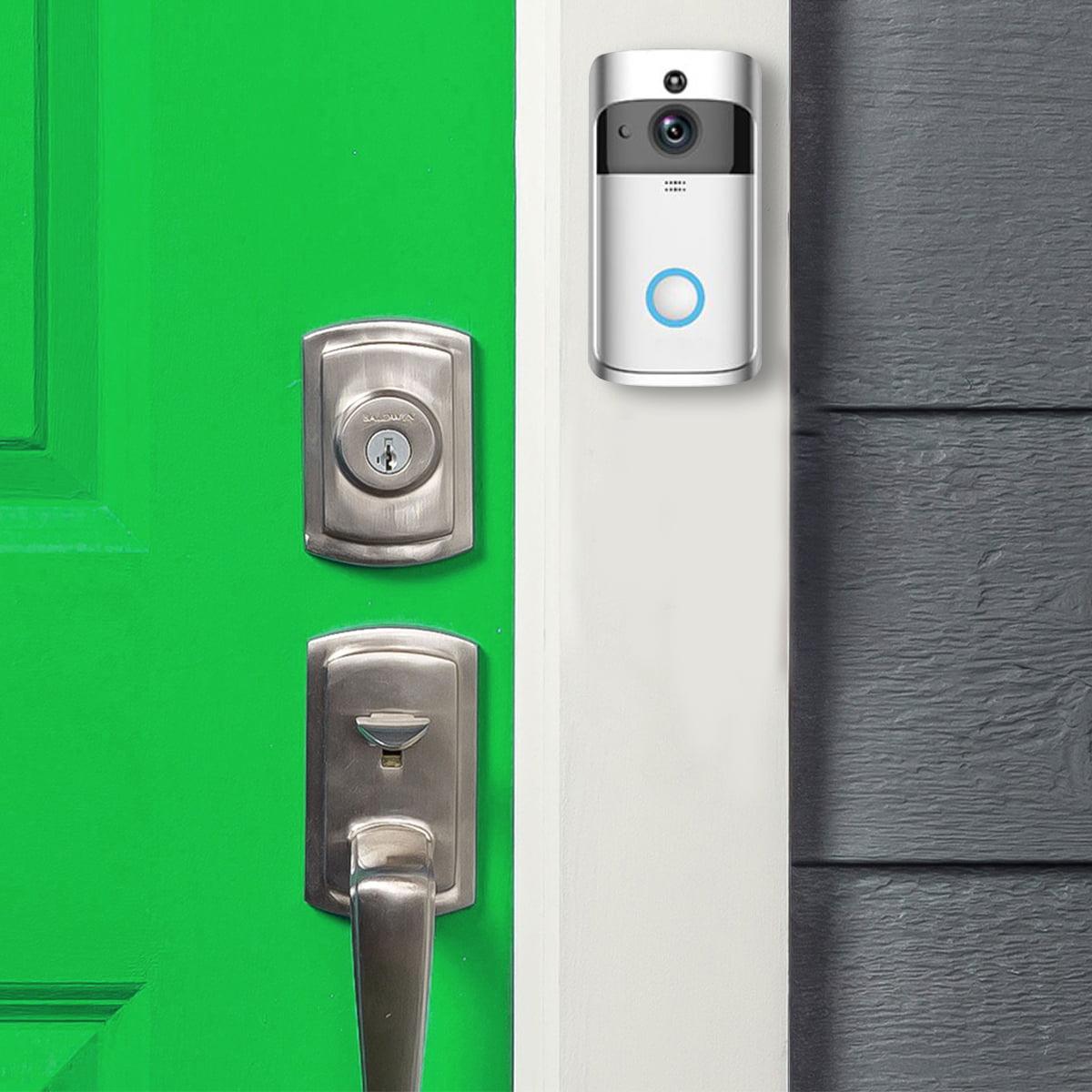 Smart Wireless Doorbell HD 720P WIFI Wireless Video Doorbell-Black