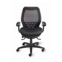 SXO Ergonomic Executive Mid Back Task Chair in Black (Red)