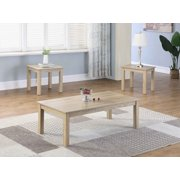 Best Master Furniture Hailey Coffee + 2 End Table Set, Light Gray