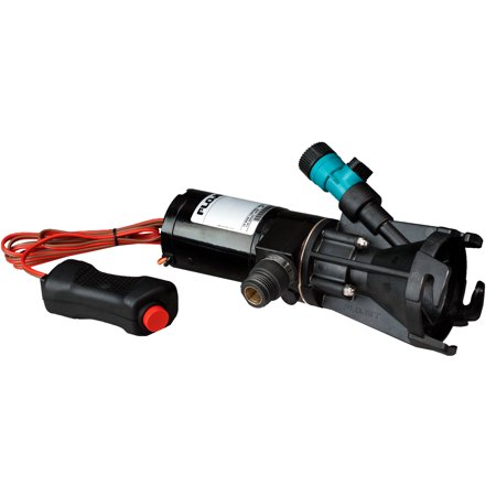 Flojet 18555-000A Portable RV Waste Pump, Self-Priming RV Macerator, 12 volt DC