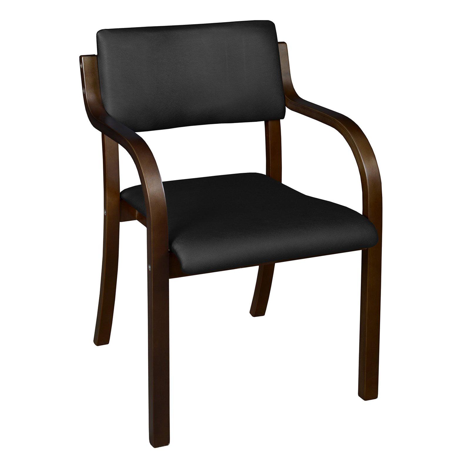 Niche Mia Bentwood Stack Chair- Mocha Walnut/Black Vinyl
