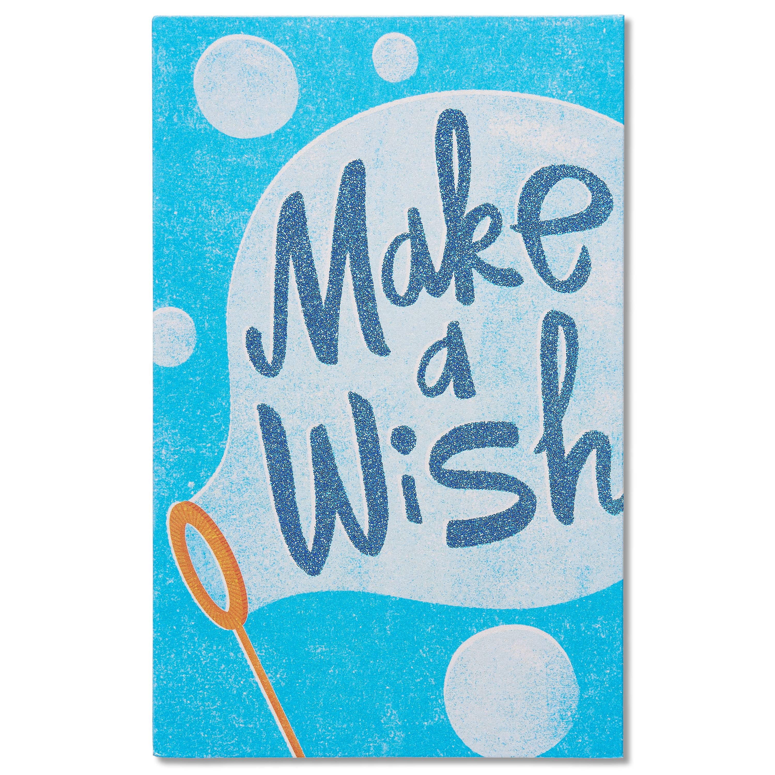 American Greetings Make a Wish Birthday Card with Glitter