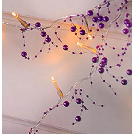 20 LED PURPLE BEADS STRING LIGHT ()