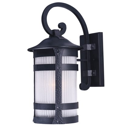 Wall Sconces 1 Light Bulb Fixture With Anthracite Finish Die Cast Aluminum and Glass Material MB Bulbs 8 inch 60 Watts