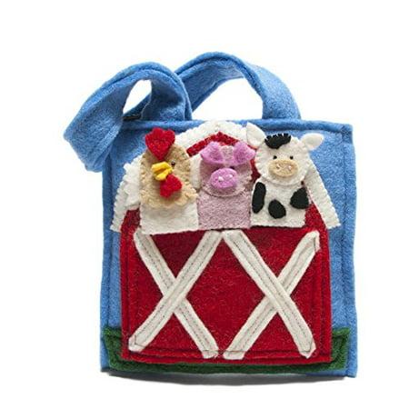 Toddler Tote Bag   Felt Barnyard Puppet Bag