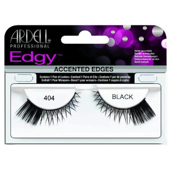 0c16190eadc Ardell Edgy Lash False Eyelashes - #404 Black (Pack of 2) - Walmart.com