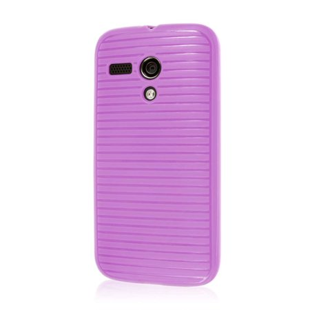 Motorola Moto G Case (1st Gen), EMPIRE GRUVE Full Protective Shock Resistant Soft Textured Non Slip Flexible TPU Slim Case for Moto G [Perfect Fit & Precise Port Cut Outs] - Radiant Orchid
