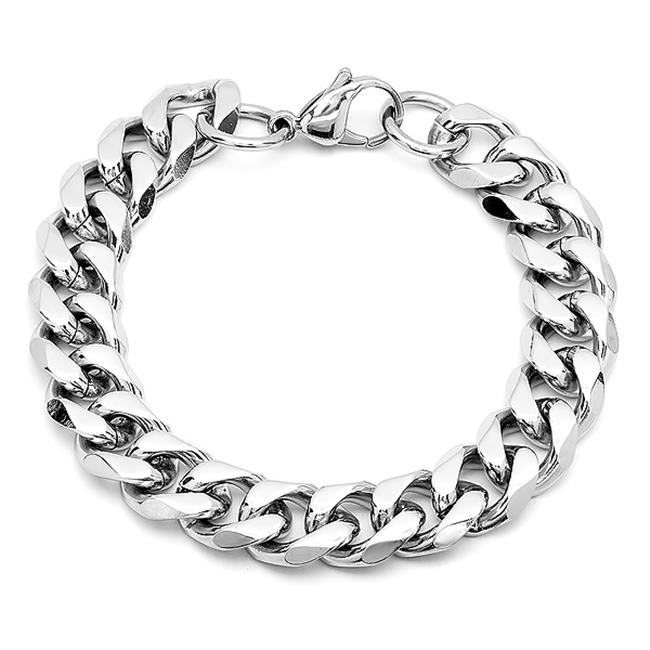 8.5'' Stainless Steel 8.5 In. Curb Bracelet