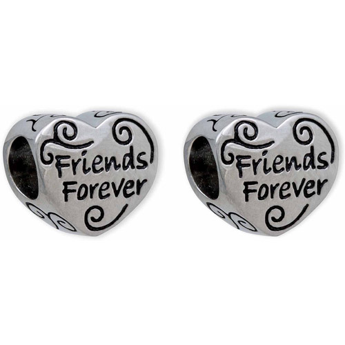 Connections from Hallmark Stainless Steel Forever Friends Charm Set