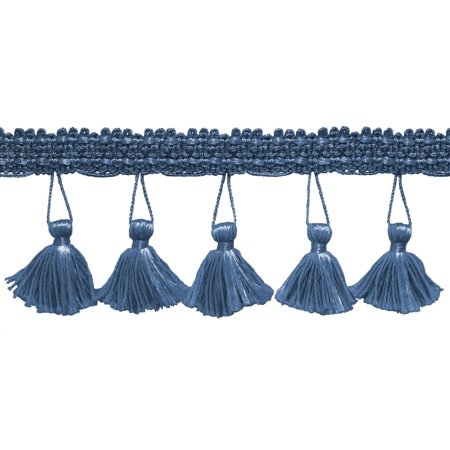 - 2.5 Inch Tassel Fringe Trim, Style# ETF Color: French Blue - M45,  Sold By the Yard