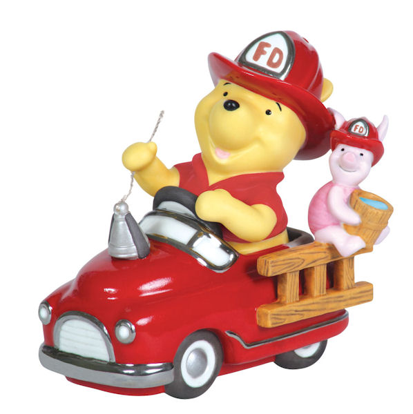 Precious Moments 113702 I'm Always By Your Side Pooh In Fire Truck w Piglet by Precious Moments