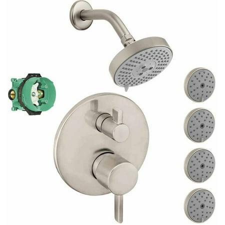 Hansgrohe Ksb04447 27457 77pc Raindance Shower Faucet Kit With 4 Body Sprays Pbv Trim