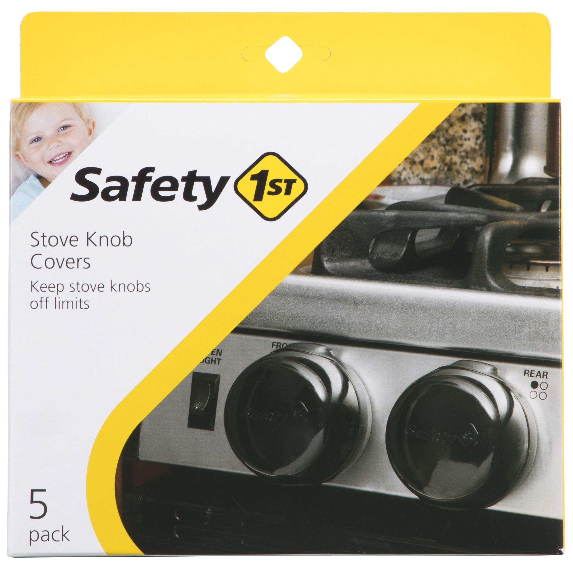 Safety 1st Universal Design Stove Knob Covers, Black