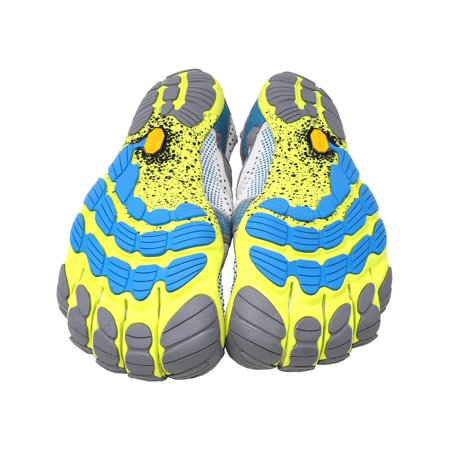 huge discount 79edc 506ad Vibram Five Fingers Men s V-Run Black   Yellow Ankle-High Running Shoe ...