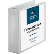 Business Source, BSN09987, Round Ring Standard View Binders, 1 / Each, White