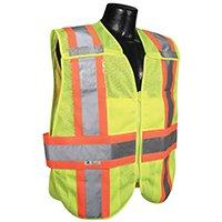 RADWEAR SV24-2ZGM-XL/2XL Expandable Safety Vest, XL/2XL, Polyester, -