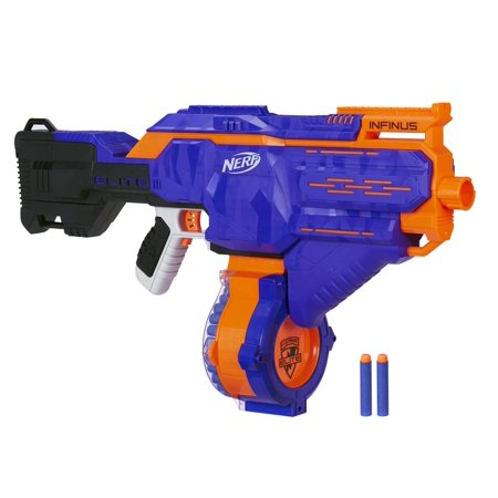 Nerf N-strike Elite Infinus with Speed-Load Technology, 30-Dart Drum, and 30 Nerf Elite (Best Nerf Gift For A 7 Year Old Boys)