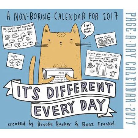 Its Different Every Day 2017 Calendar