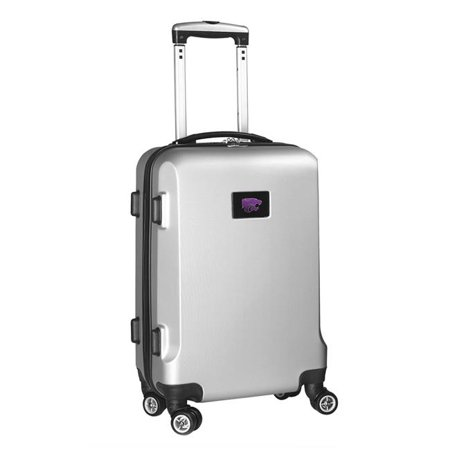 4d5478d283bf Denco Sports Luggage CLKSL204-SILVER 20 in. Kansas State 8 Wheel ABS ...