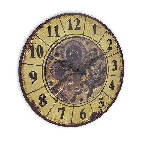 Steampunk Gear Art Wall Clock 15 In. ()