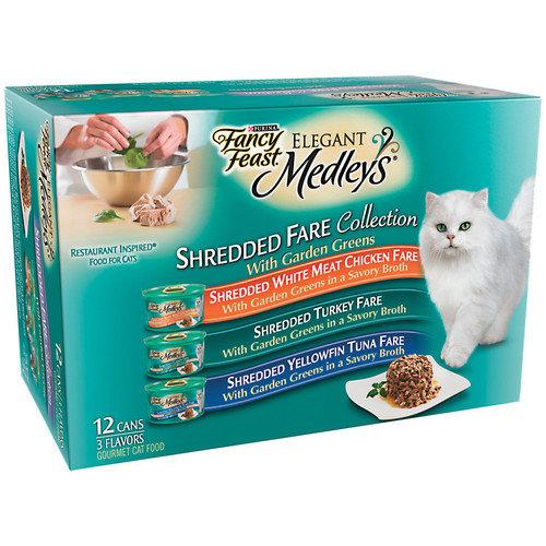 Fancy Feast Elegant Medley Shredded Variety Cat Food (Case of 2)