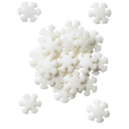 Snowflakes Edible Sprinkles - 8 - Snowflake Sprinkles
