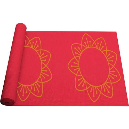 Danskin Now Classic Thick Yoga Mat 5mm Printed Sunshower