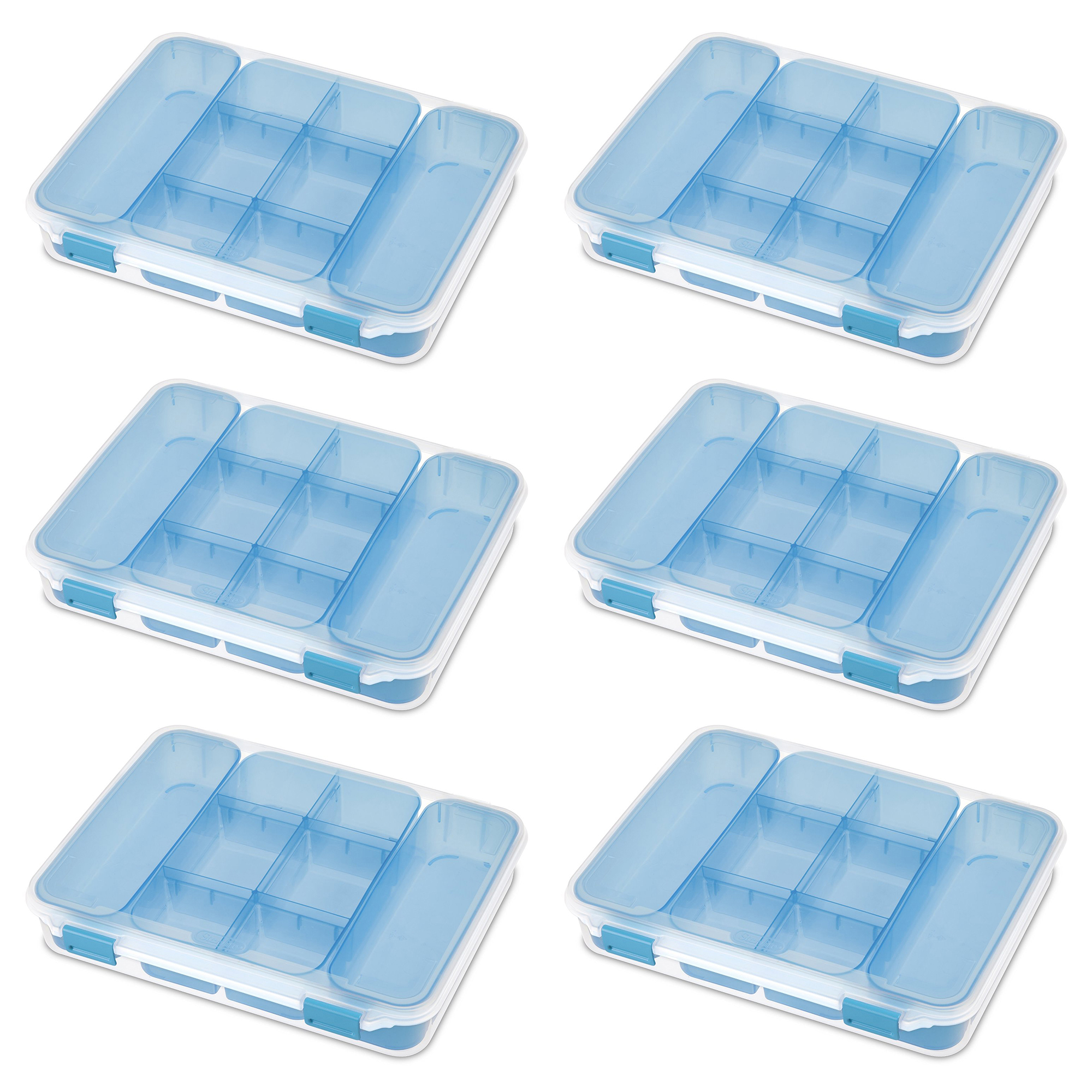 Sterilite Divided Storage Case for Crafting and Hardware (6 Pack) | 14028606