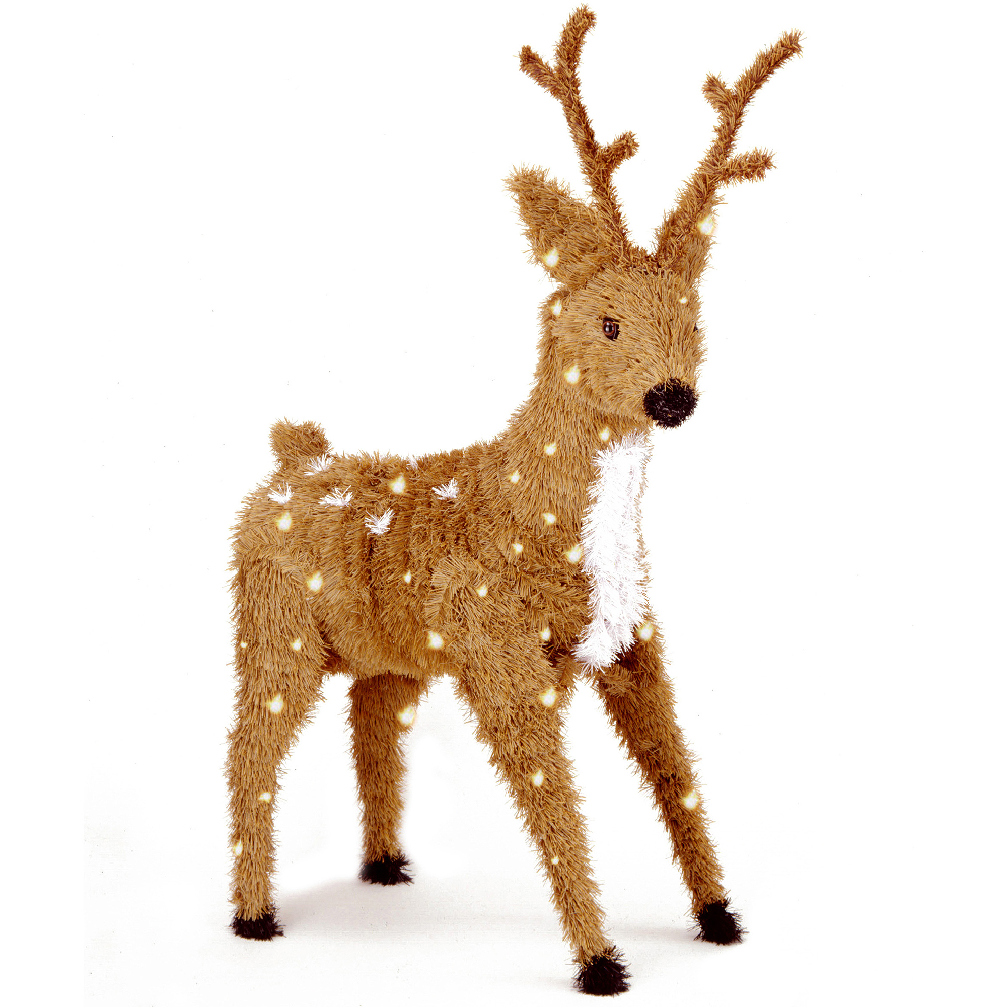 """National Tree 36"""" Creative Images Brown Standing Reindeer with Spots and 150 Clear Lights"""