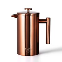 FLOH French Press for Coffee & Tea in Rose Gold Copper - Large 4 Cup
