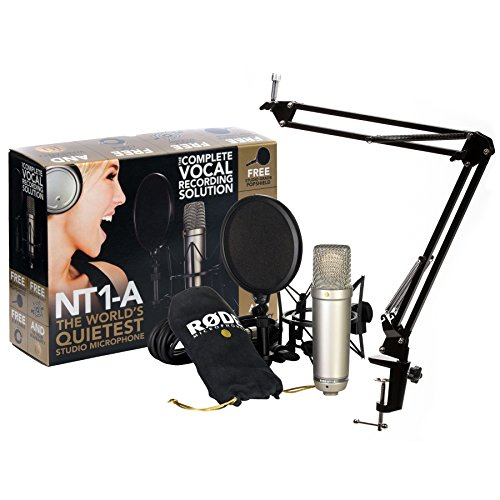 Rode NT1A Vocal Condenser Microphone Package w  Knox Desktop Boom Arm Stand by Rode Microphones