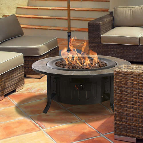 Bond Bolen Steel Gas Fire Table