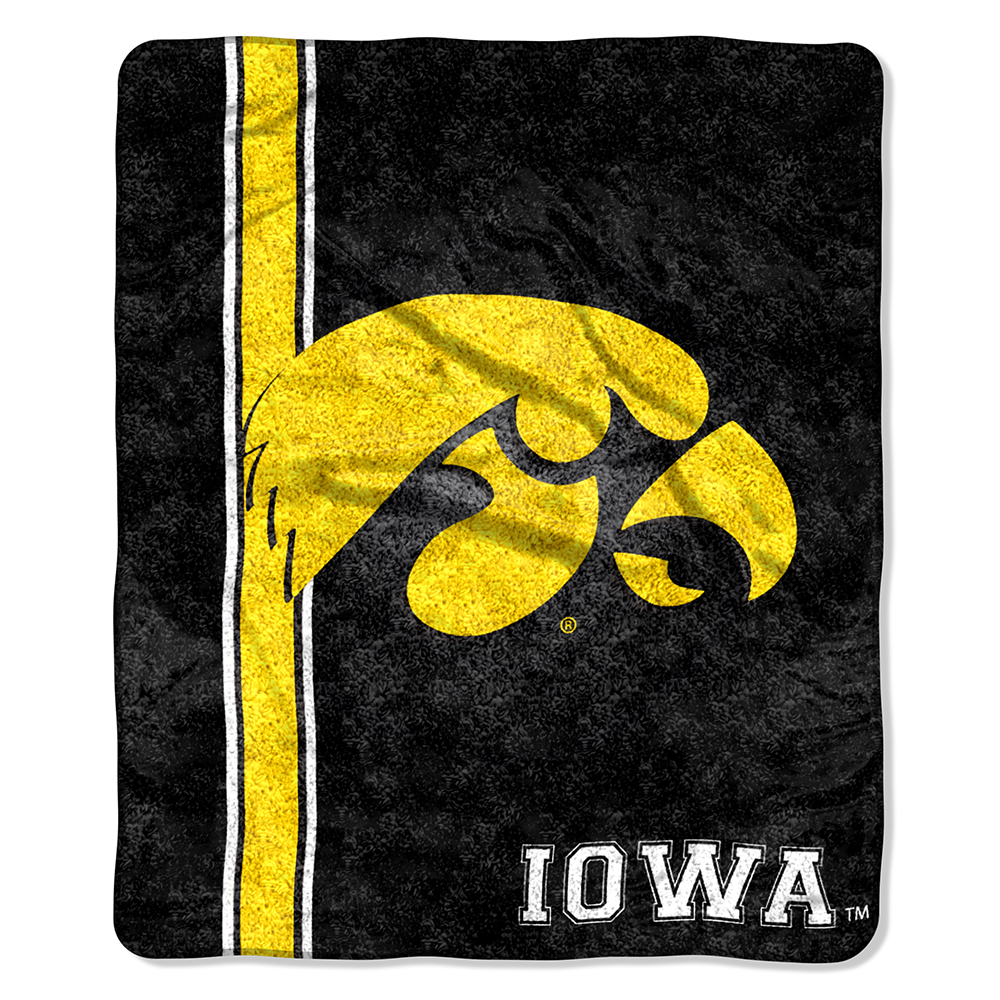 Iowa Hawkeyes NCAA Sherpa Throw (Jersey Series) (50in x 60in)