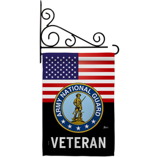 National Guard Us Army Veteran Garden Flag Set Armed Forces 13 X18 5 Double Sided Decorative Vertical Flags House Decoration Small Banner Yard Gift Walmart Com Walmart Com