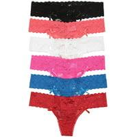 ToBeInStyle Women's Pack of 6 Thongs in Multiple Styles