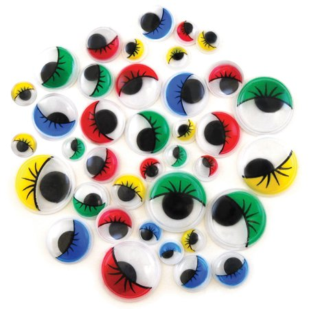 Paste-On Googly Eyes 72/Pkg-Assorted](Googly Eyed)