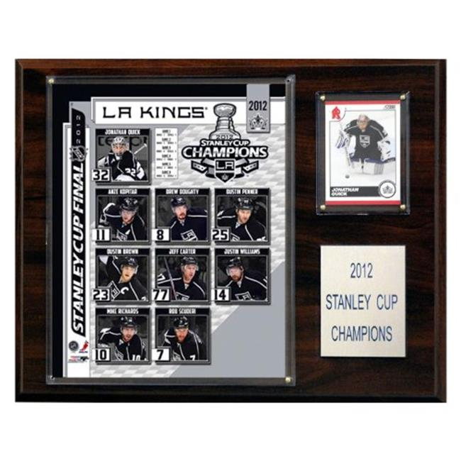 C & I Collectables 1215SC12 NHL 12 X 15 Los Angeles Kings 2011-2012 Stanley Cup Champions Plaque