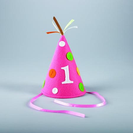 Creative Converting 1st Birthday Girl Felt Hats (1st Birthday Hats)