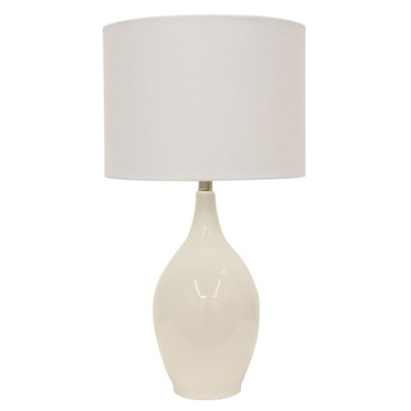 "27"" Anabelle Ceramic Table Lamp White - Decor Therapy"