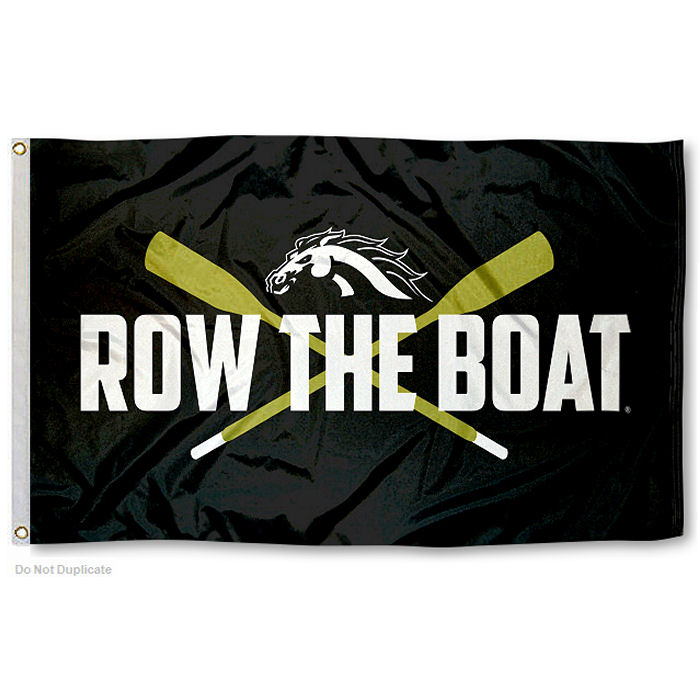 Western Michigan University Broncos Row the Boat Flag by College Flags and Banners Co.