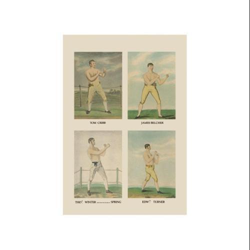 Punching Quartet Print (Unframed Paper Poster Giclee 20x29)