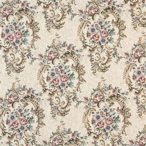 Designer Fabrics B773 54 inch Wide Burgundy, Green And Blue, Floral Tapestry Upholstery Fabric