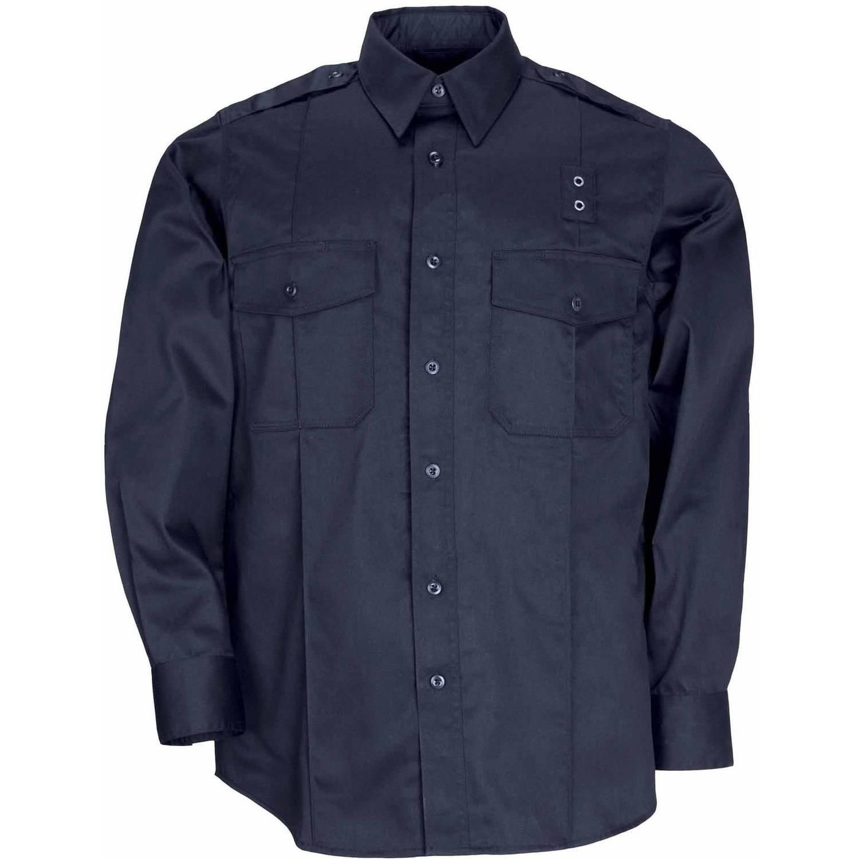 Mens Twill Pdu Long Sleeve Class A Shirt Midnight Navy Walmart