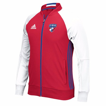 FC Dallas MLS Adidas Red Anthem Full Zip Track  Jacket For - Red Coat Mens