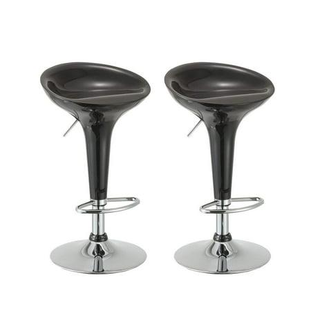 Duhome Bar Stools Set Of 2 Black Adjustable Counter Stools