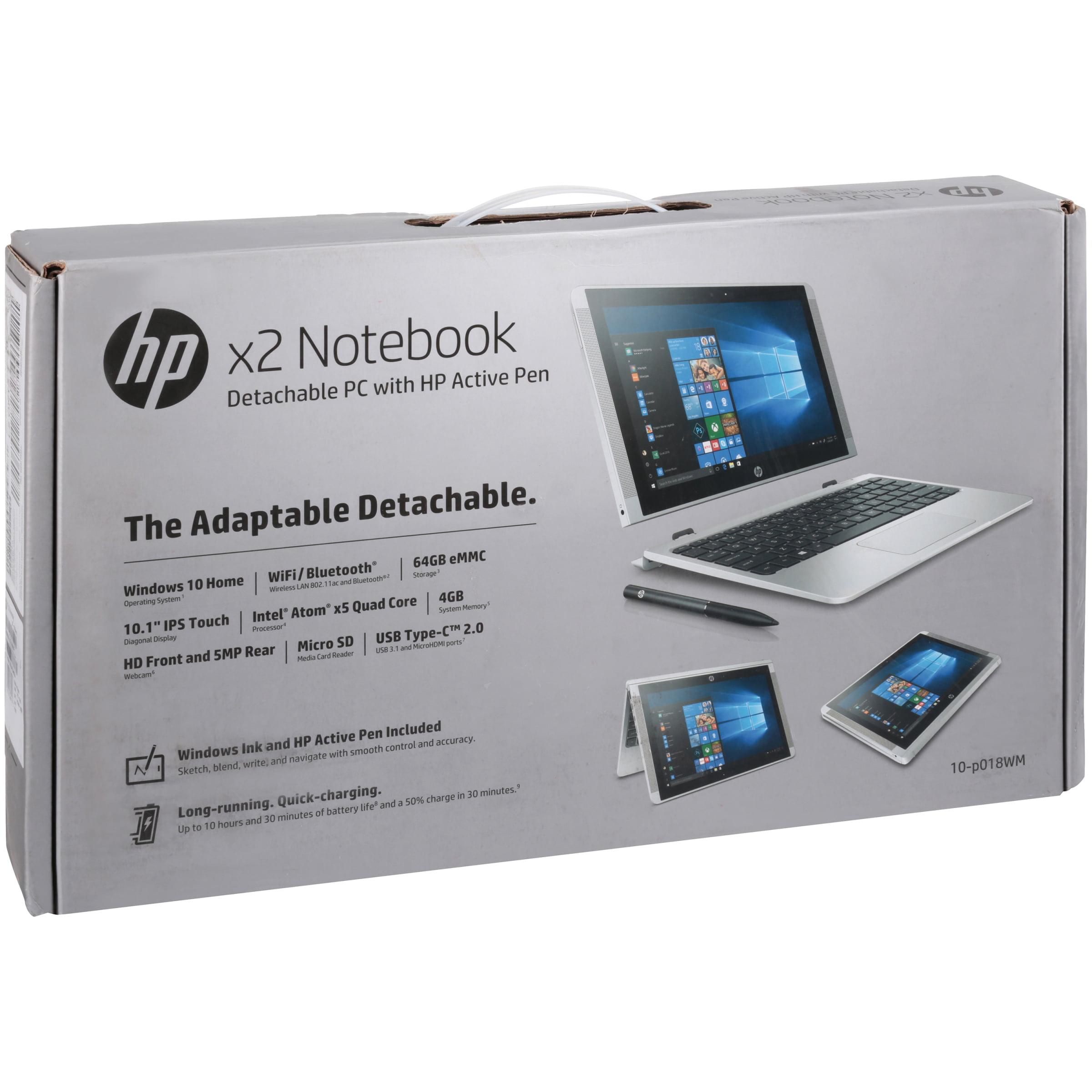 HP X2 Detachable Laptop 10 1