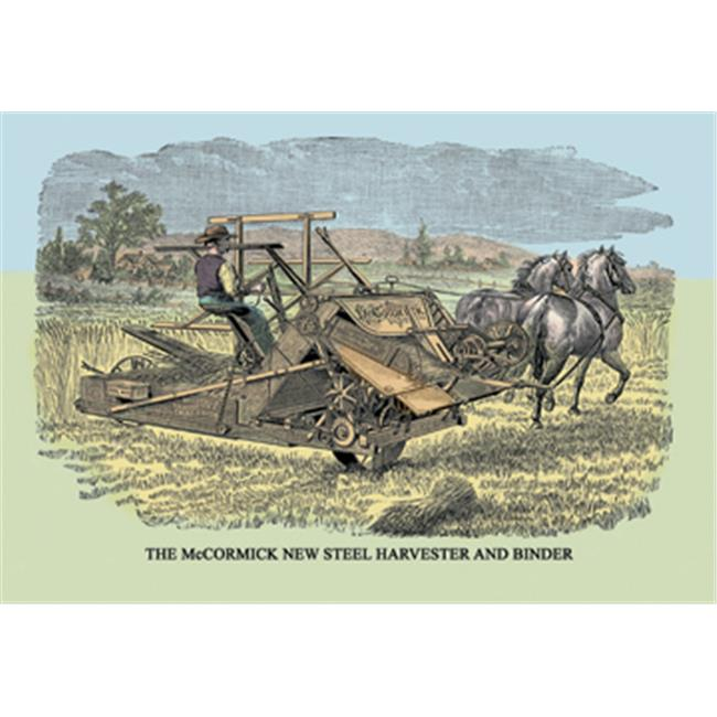 Buy Enlarge 0-587-07578-3P12x18 McCormick New Steel Harvester and Binder- Paper Size P12x18