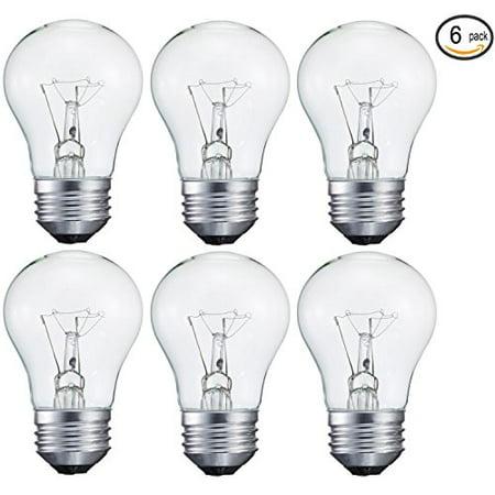 40-Watt Decorative A15 Incandescent Light Bulb, Medium (E26) Standard Household Base Crystal Clear