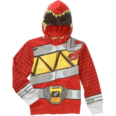 Red Ranger Boys Costume Hoodie - Red Power Ranger Costume For Kids